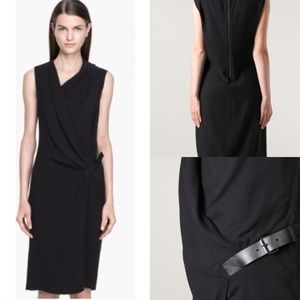 🍷Helmut Lang NOA belted suiting dress in black